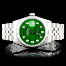 Rolex SS DateJust Diamind Wristwatch