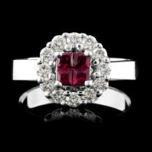 18K Gold 0.36ct Ruby & 0.42ct Diamond Ring