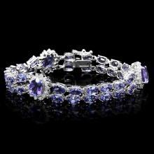 `14k Gold 22ct Tanzanite 1.50ct Diamond Bracelet