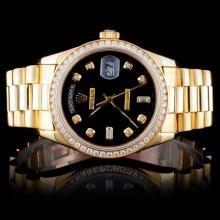 Rolex YG Day-Date 1.50ct Diamond Wristwatch