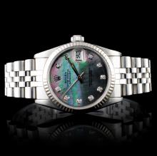 Rolex Stainless Steel DateJust Mid-Size Wristwatch