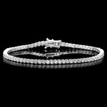 ^18k White Gold 3.65ct Diamond Bracelet