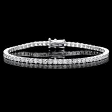 ^18k White Gold 4.60ct Diamond Bracelet
