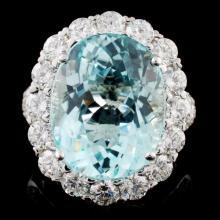 18K Gold 10.14ct Tourmaline & 2.71ct Diamond Ring