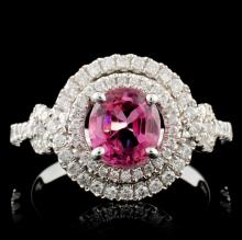 18K White Gold 1.33ct Spinel & 0.53ct Diamond Ring