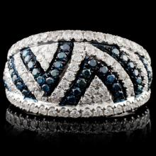 18K White Gold 1.10ctw Fancy Color Diamond Ring