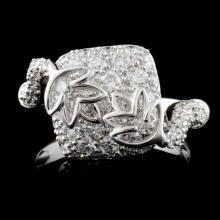 18K White Gold 1.61ct Diamond Ring