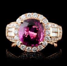 18K Gold 3.15ct Sapphire & 1.17ct Diamond Ring