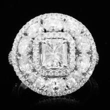18K Gold 3.52ctw Diamond Ring