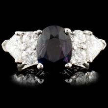 18K Gold 3.08ct Alexandrite & 2.16ctw Diamond Ring