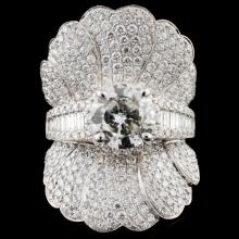 18K Gold 4.92ctw Diamond Ring