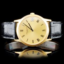 18K Gold Patek Philippe Men's Wristwatch