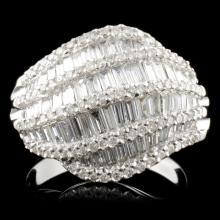 18K Gold 3.20ctw Diamond Ring