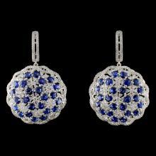 18K White Gold 10.00ct Sapphire & 3.32ct Diamond E