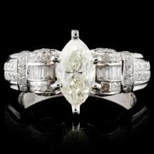 18K White Gold 1.74ctw Diamond Ring