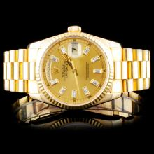 Rolex 18K YG Day-Date Presidential Wristwatch