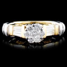 14K TT Gold 0.52ctw Diamond Ring