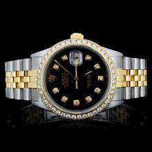 Rolex YG/SS DateJust 1.50ct Diamond Men's Watch