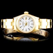 Rolex YG DateJust Ladies Watch