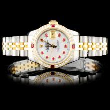 Rolex Two-Tone DateJust 1.00ct Diamond Ladies Watc