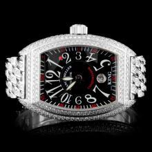 Frank Muller Conquistador 15.00ctw Diamond Watch