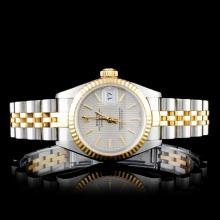 Rolex Two Tone DateJust Ladies Watch Tapestry