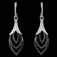 18K White Gold 1.53ctw Fancy Color Diamond Earring