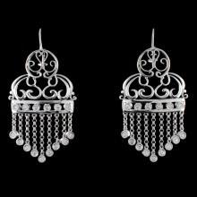 18K White Gold 0.51ct Diamond Earrings