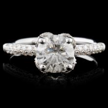 18K White Gold 1.58ctw Diamond Ring