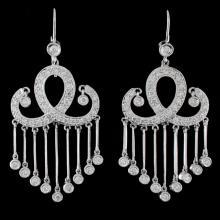 18K White Gold 1.44ct Diamond Earrings
