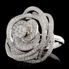 18K White Gold 1.52ctw Diamond Ring
