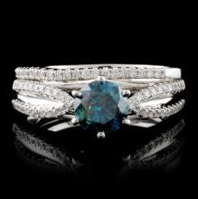 18K White Gold 1.24ctw Fancy Diamond Ring