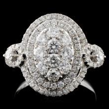18K White Gold 1.26ct Diamond Ring