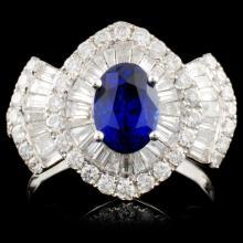 18K White Gold 1.50ct Sapphire & 1.43ct Diamond Ri