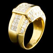 18K Gold 3.11ctw Diamond Ring