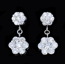 18K Gold 2.68ct Diamond Earrings