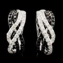 14K Gold 0.75ctw Fancy Diamond Earrings