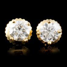 14K Gold 0.84ctw Diamond Earrings