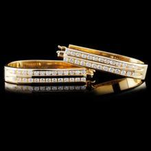 14k Gold 0.83ctw Diamond Earrings