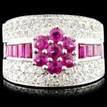 18K Gold 1.75ct Ruby & 0.84ctw Diamond Ring