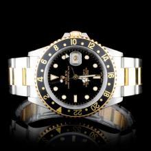Rolex Two-Tone GMT Master II Men's Wristwatch
