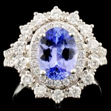14K Gold 1.82ct Tanzanite & 1.03ctw Diamond Ring