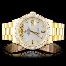 Rolex 18K YG Presidential 2.00ct Diamond Wristwatc