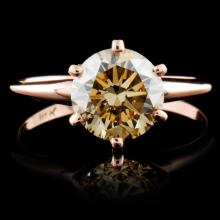 14K Rose Gold 1.70ct Solitaire Diamond Ring