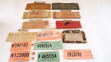 Lot Of Michigan Hunting Licenses & Back Tags