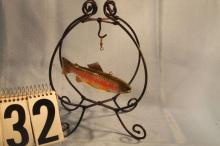 Rainbow Trout Fish Spearing Decoy by Jim Stangland, New York, 6