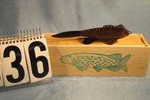 Carl Christensen Hand Carved & Painted Muskrat Fish Spearing Decoy, 7