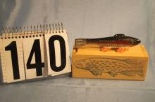 Carl Christensen Hand Carved & Painted Fish Spearing Decoy, Rainbow Trout, Weighted, 5.25