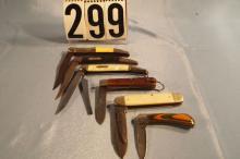 6 Pocket Knives, 3 Camillus, 3 Fish Knives