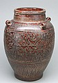 Unusual Chinese Antique Porcelain Monochromatic Relief Jar